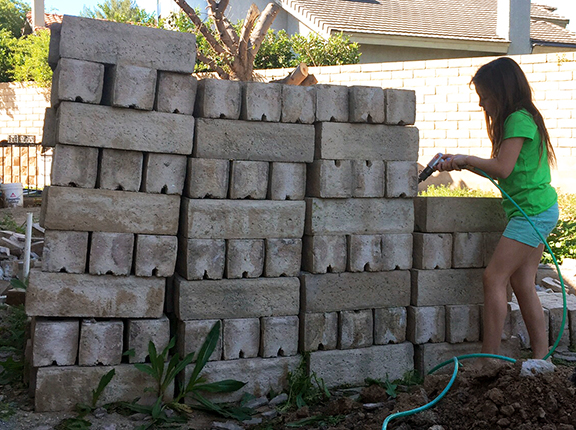 moving a block wall