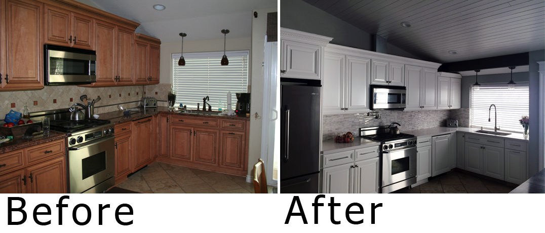 Painting Formica Cabinets Before And After Home