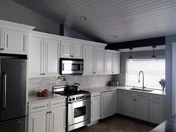 simply white kitchen renovation